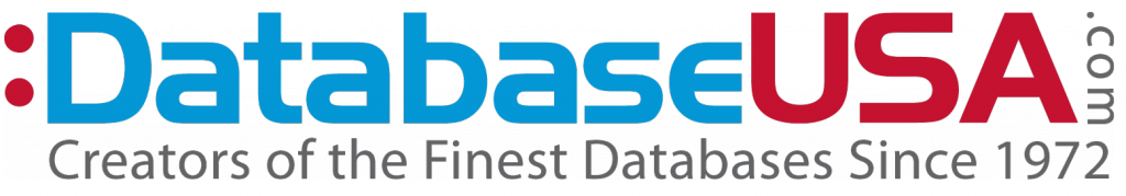 Databaseusa logo, email marketing, database usa, sales leads